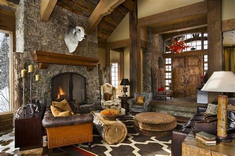 ladder rustic architecture warm interior design living 1001 idee per un camino rustico comfort e accoglienza