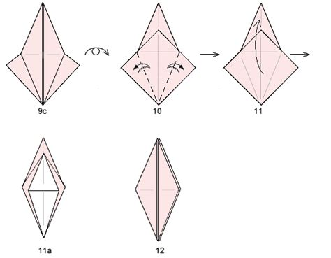 Origami Resource - origami bird base