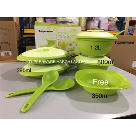 2 Pcs Bowl Blossom Tupperware tupperware petit blossom set free 1pcs bowl shopee