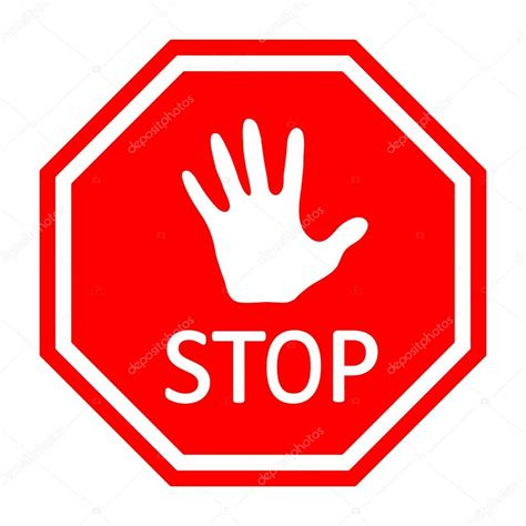 Stop With The by Traffic Stop Sign With A Vector Eps10 Stock
