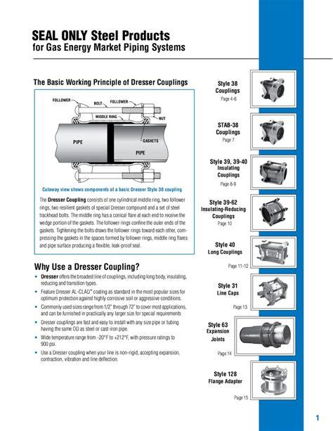 Dresser Pipeline Solutions by Dresser Coupling Gaskets Bestdressers 2017