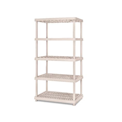 Shop Enviro Elements 72 In H X 36 In W X 24 In D 5 Tier Plastic Shelving Lowes