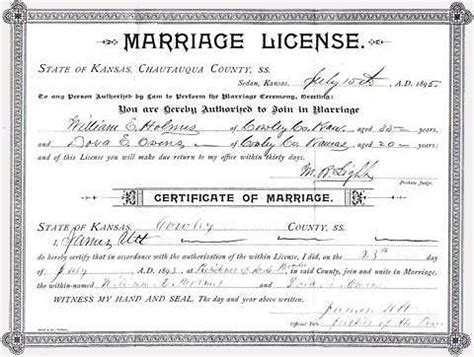 Kansas Marriage Records How To Get A Marriage License In Kansas