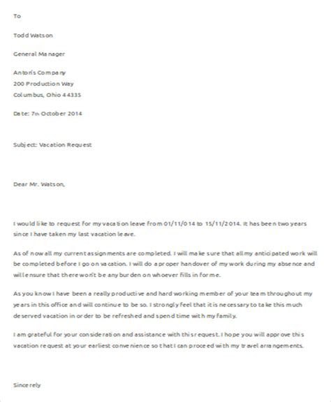 request letter for vacation leave approval sportstle com