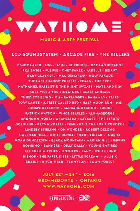 wayhome has announced the must see canadian festival