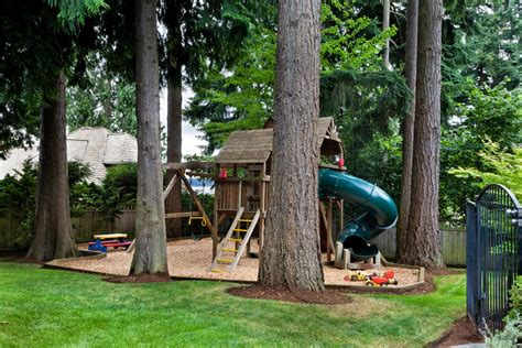 Backyard Climbing Wall For Kids - fantastic wooden playset decorating ideas images in kids traditional design ideas
