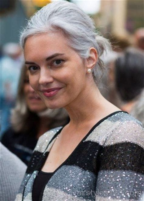 young women with grey hair updo hairstyles page 4