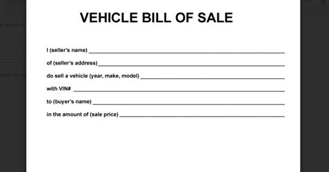simple vehicle bill of sale template simple bill of sale for car template business
