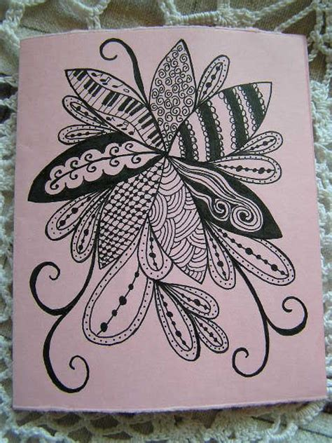 zentangle pattern a day zentangle quot mothers day quot card made for me by my daughter