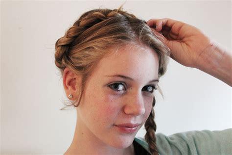 german braid hair how milkmaid braids germain braids hair braids hair styles