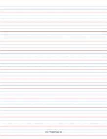 printable 1 2 rule 1 4 dotted 1 4 skip handwriting paper