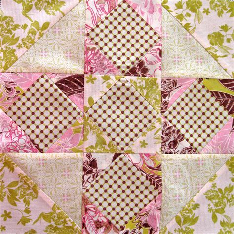 Patchwork Block - third times the charm or a sawtooth patchwork in