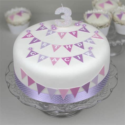 personalised bunting birthday cake decorating kit  clever  cake kits