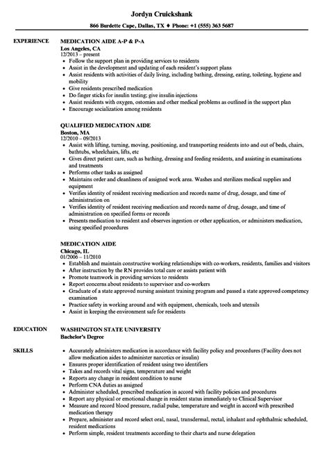 Medication Aide Cover Letter by Medication Aide Resume Resume Ideas