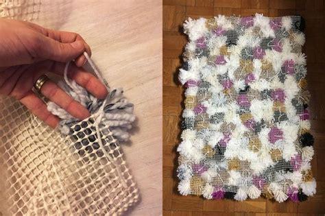 pom pom rugs how to make make your own pom pom rug hometalk