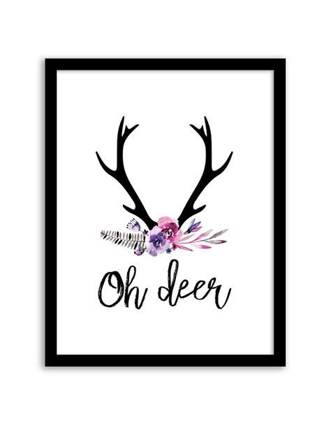 free printable wall art deer oh deer floral wall art free printable wall art from