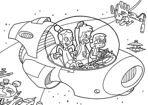 the rocket from cyberchase coloring pages for kids