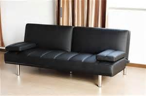 leather sofa bed australia italian design 9p black pu leather sofa bed futon auction