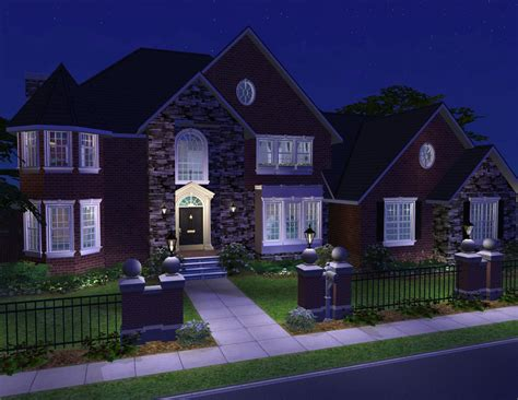 new american style homes mod the sims 4 bedroom new american style home