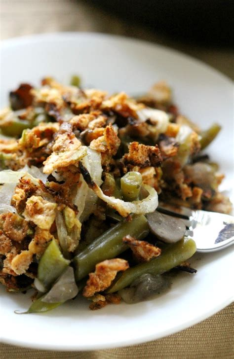 healthy gluten  vegan green bean casserole allergy