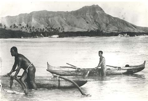 file outrigger canoes at waikiki beach late 1800s jpg - Canoes In The 1800s