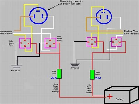 headlight wiring diagram with relays get free image
