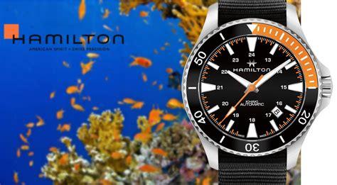 hamilton dive hamilton khaki navy scuba automatic ref h82305931