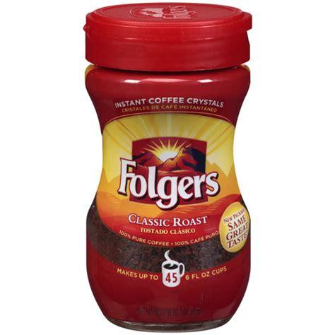 Folgers Classic Roast Instant Coffee, 3 oz   Walmart.com