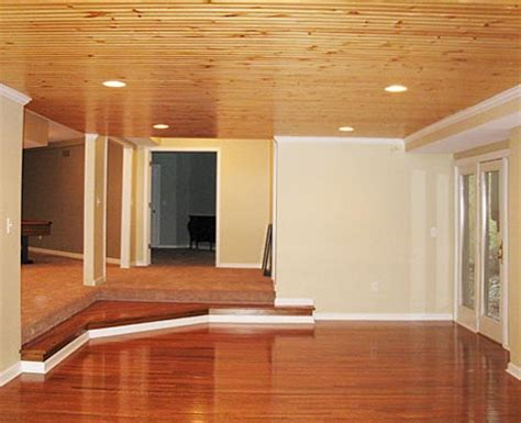 wood basement ceiling basements by deming remodeling