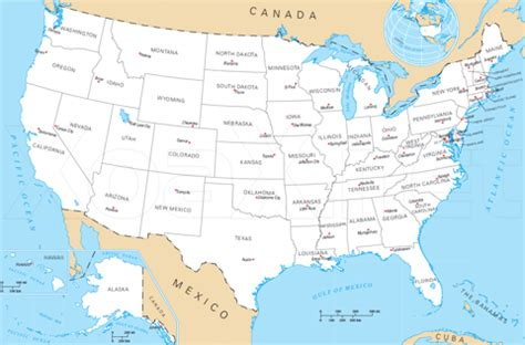 usa map labeled with states and capitals map of the united states and capitals for