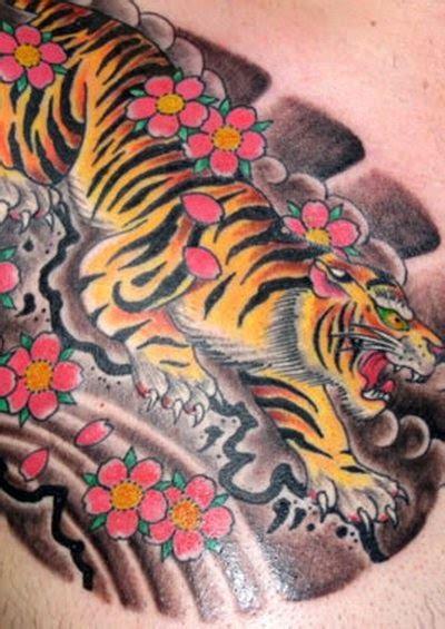 tato koi jepang tattoo harimau tiger tattoo gambar seni tattoo