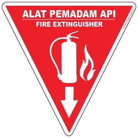 Alat Pemadam Api Untuk Kereta jual rambu segitiga alat pemadam api apar oleh depot safety di jogja