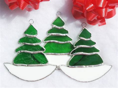 christmas tree gift tags stained glass christmas tree