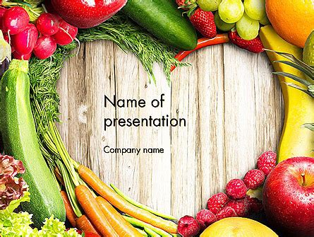 0 point fruits and vegetables fruit and veg powerpoint template backgrounds
