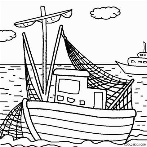 Coloring Pages Of Fishing Boats by Printable Boat Coloring Pages For Cool2bkids