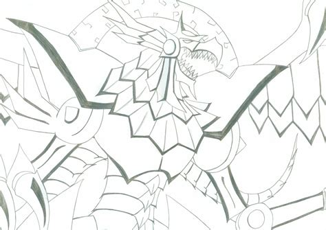 coloring pages winged dragon of ra yugioh winged dragon of ra by kinashak on deviantart