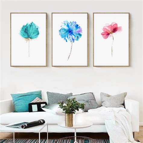 10 Gorgeous Wall Hangings From Ikea by Aliexpress Buy Modern Watercolor Beautiful Plant