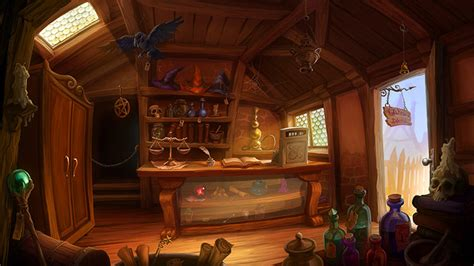 Sho Black Magic item shop interiors storefronts for inspiration