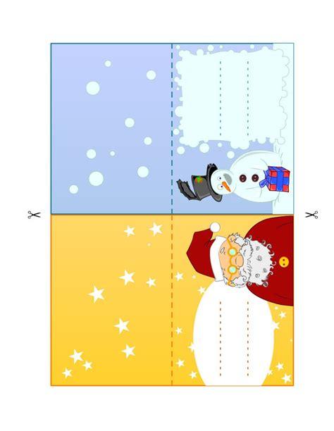 santa place cards templates place cards snowman santa claus