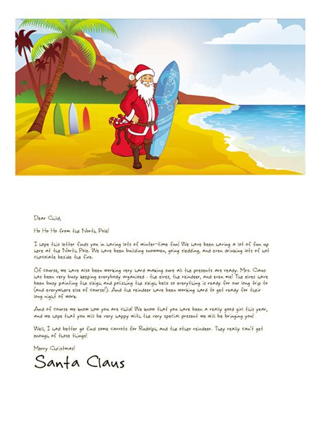 free printable letter from santa australia easy free letters from santa customize your text and