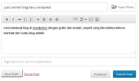cara membuat blog di wordpress bagi pemula cara membuat blog di wordpress gratis dan mudah untuk