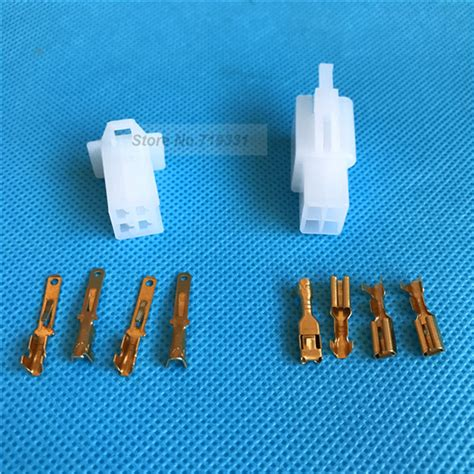 20sets 2 8mm 4 way pin automotive motorcycle electrical