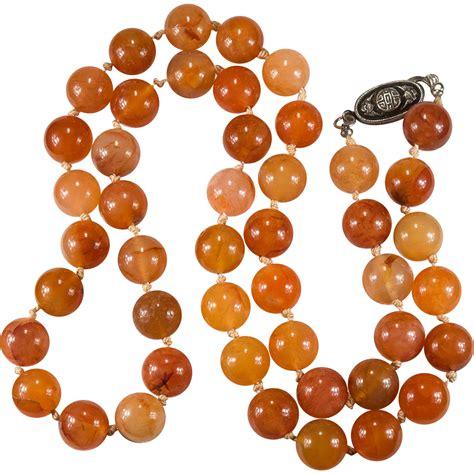 Orange Carnelian carnelian necklace sterling orange carnelian agate
