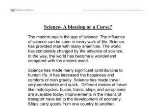 Essay On Science And Its Blessings by Science A Blessing Or A Curse Gcse Religious Studies