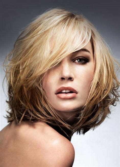 shag hairstyle for fine hair and round face medium hair cuts for fine hair round face medium