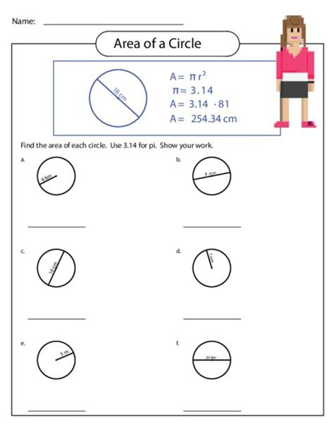 get printable area c math worksheets circles area grade 6 geometry worksheets
