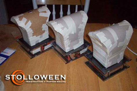 How To Make A Paper Mache Bust - how to haunted busts stolloween