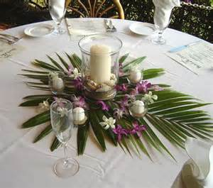 hawaiian wedding table settings photos palm tree centerpieces weddings like broad leaf wedding weddings receptions is manipulated for