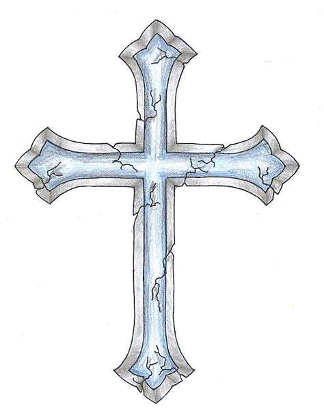 cross tattoo stencil cracked cross design want a different cross with