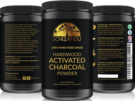 pure food grade activated charcoal powder large